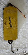 Vintage Lg Chatillon's Brass Farmers Milk Scale Spring Balance to Weigh 60 lbs