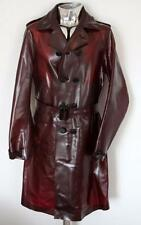 Men's Burberry Prorsum PVC Oxblood Red Trench Coat EU50 Large RRP £2145 jacket