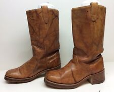 VTG MENS ACME MOTORCYCLE LEATHER BROWN BOOTS SIZE 8 D