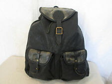 Genuine JAS M B London Bomber leather backpack in black