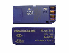256MB 128MB x 2 Memory Stick NON-PRO Genuine Made in Japan For SONY Older Camera