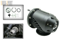JDM BLACK STAGE 2 SSQV TURBO BLOW OFF VALVE BOV W/ FLANGE CLEAR SOUND