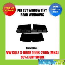 VW GOLF 3-DOOR 1998-2005 (MK4) 35% LIGHT REAR PRE CUT WINDOW TINT