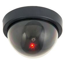 Fake Dummy Dome CCTV Security Camera + Flashing LED For Shops Work Retail Office