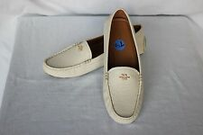 NEW Cream COACH Leather AMBER Women's Loafers Flat Driving Moccasin Shoes 7.5