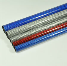 2X Plane Roll 3K Glossy Surface Carbon Fiber Tube 16*14*500mm Pipe Multi Color