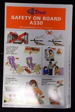 Thai Airlines A330 Rare Emergency Safety Card