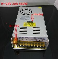 DC 20A 0-24V 480W Adjustable switching power supply with digital display