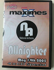 Maximes National Anthems May 14th 2005 4 x CD pack bouncy scouse house donk RARE