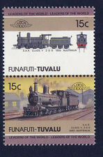 TUVALU FUNAFUTI LOCO 100 SAR CLASS Y  LOCOMOTIVE AUSTRALIA STAMPS MNH