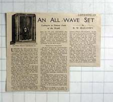 1936 The Philco All Wave Superhet Number 295 Radio Review