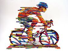 David Gerstein Modern Art CHAMPION Bicycle Racer Metal Sculpture bike champ