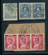 THAILAND SIAM LAMPOON POSTMARKS 6 stamps