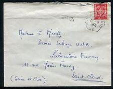 """France - Oblitération """" Porte Avion Lafayette """" sur enveloppe en 1960  réf F98"""