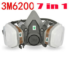7PCS/Set 3M 6200 Respirator Face Mask Painted Activated Carbon Dust Smoke-Proof