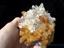 HUGE TOP COLLECTOR BURR DISPLAY__OPTICAL CLEAR Arkansas Quartz Crystal Cluster
