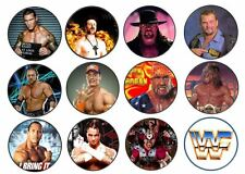 24 WWE WWF WRESTLING EDIBLE CUPCAKE/FAIRY CAKE RICE PAPER TOPPERS