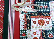 NORDIC CHRISTMAS FABRIC FAT QUARTER BUNDLE 100% COTTON SCANDI RETRO