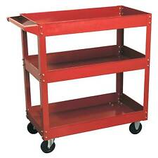 Sealey Heavy-Duty 3-Level Shelf Workshop/Garage Trolley / Tool Storage - CX108