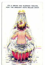 Bamforth Kiddy Comic Postcard It's a grand and glorious feeling Child in Bath