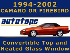 NEW Firebird Camaro Convertible Top And Heated Glass Window - Vinyl Color Choice