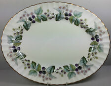 ROYAL WORCESTER LAVINIA (CREAM GROUND) OVAL SERVING PLATTER / MEAT PLATE 34.5CM