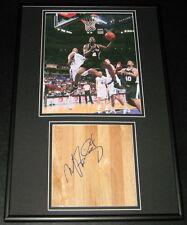 Michael Finley Signed Framed Floorboard & Photo Display Spurs