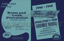 1946-1947 Cadillac Fisher Body Assembly Manual Set Upholstery n Noise Prevention
