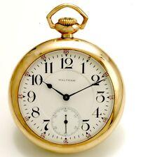 18 Size 21 Jewel Waltham Crescent Street Railroad Pocket Watch CA1907