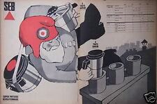 PUBLICITÉ 1967 SEB SUPER FRITEUSE RÉVOLUTIONNAIRE PAS D'ODEUR - ADVERTISING