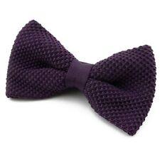 Noeud Papillon Homme Femme Tricoté Violet foncé - Dark Purple men Knitted bowtie