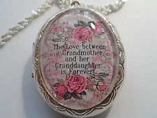 FRENCH LACE THE LOVE BETWEEN A GRANDMOTHER AND GRANDDAUGHTER IS FOREVER LOCKET