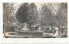 Real Photo Postcard Water Fountain at the City Park in Medford, Oregon~104713
