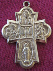 Vintage Catholic Religious Holy Medal - SCAPULAR - Gold Tone - STERLING CHAPEL