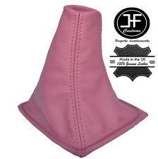 PINK LEATHER MANUAL LEATHER GEAR GAITER FITS ROVER 200 25 1996-2002