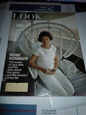 Vintage LOOK Magazine November 26, 1968 - Rose Kennedy JFK's Mom - NFL Football