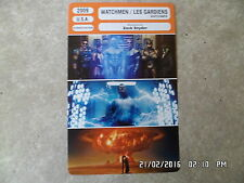 CARTE FICHE CINEMA 2009 WATCHMEN LES GARDIENS Jackie Earle Haley