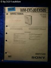 Sony Service Manual WM EX500 /EX505 Cassette Player (#6445)