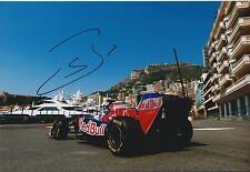 Sebastien Buemi SIGNED Monaco Toro Rosso 12x8 Photo AFTAL COA F1 Red Bull