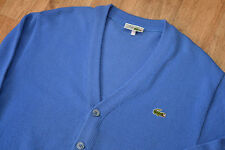 MEN'S CHEMISE LACOSTE Wool/Acrylic Button Front Cardigan/Sweater/Jumper size 5