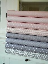 6x 50cm Stoff Nude ROSA Taupe GRAU Stoffpaket Stoffe Patchwork Stern Shabby chic
