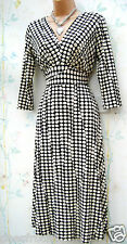 SIZE 18 TEA DRESS  POLKA DOT SPOT STRETCH JERSEY STUNNING BUSTLINE # US 14 EU 46