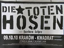 DIE TOTEN HOSEN  2010  KRAKAU  orig. CONCERT POSTER - TOUR POSTER