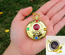 SAILOR MOON POKET WATCH OROLOGIO NECKLACE PRETTY GUARDIANS CIONDOLO ANIME #2