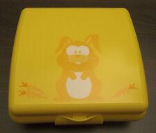 Tupperware A 126 Sandwichbox Hase Pausendose Brotdose Dose Gelb Neu OVP