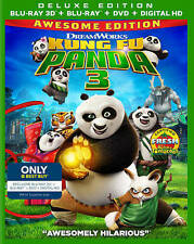 Kung Fu Panda 3 ( Blu-ray + DVD, 3D Includes Digital Copy ,with slipcover)