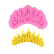 Crown Silicone Fondant Mold Cake Clay Chocolate Baking Mould Sugarcraft Moulds
