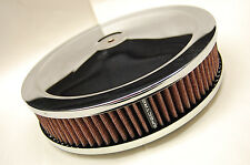 SPECTRE K&N Style Red 9x2 Washable Filter Chrome Racing Air Cleaner Assembly