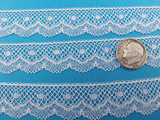 "French Heirloom Cotton Lace Edging 3/4"" Wide White Fashion/Craft/Doll Lace 852"