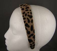 "dark brown Cheetah Leopard print 1.25"" wide headband hair band accessory"